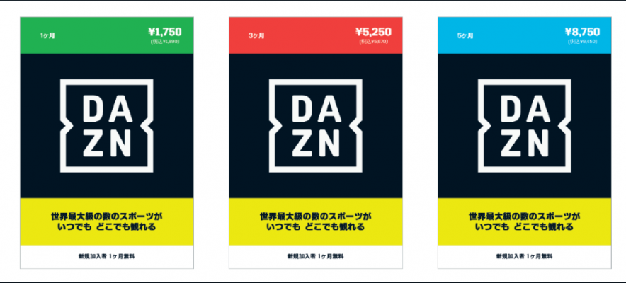DAZNプリペイドカード