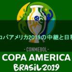コパアメリカ2019の中継と日程(日本時間)!地上波でのテレビ放送はある?